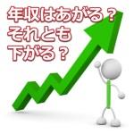 転職で年収がアップする人、ダウンする人の割合